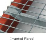 Racking Accessories Wire Mesh Decking inverted Flared