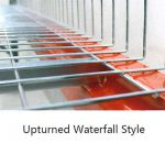 Racking Accessories Wire Mesh Decking upturned waterfall style